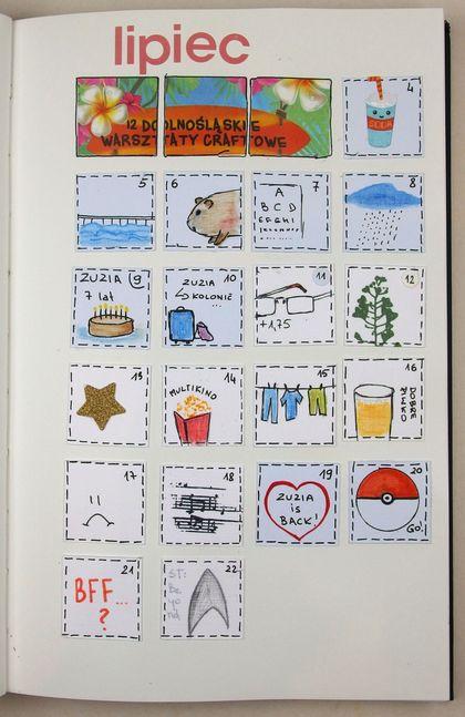 Calendarz lipiec