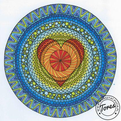 Mandala z serduszkiem